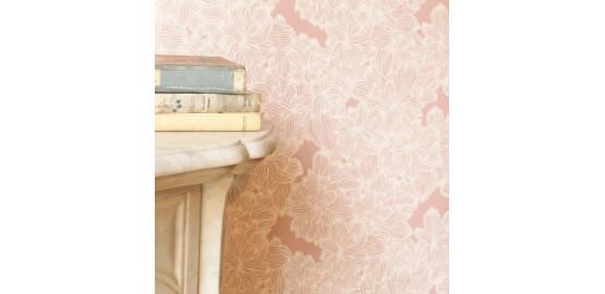 Papier peint Vieux Rose 48x300 cm
