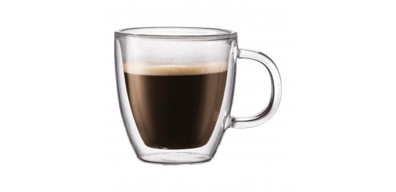 Set de 2 mugs Bistro double paroi 0,15 l