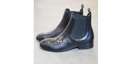 Bottines Holy noir Papillon