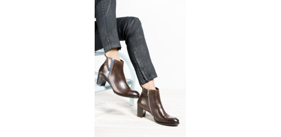 Bottines Atria Papillon Marron