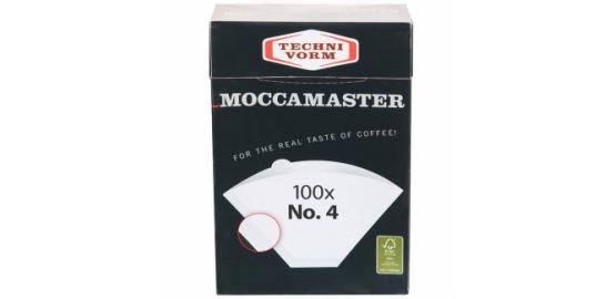 Moccamaster Boite de 100 filtres à café N° 4