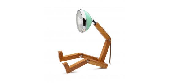 Lampe Mr Wattson vert pastel