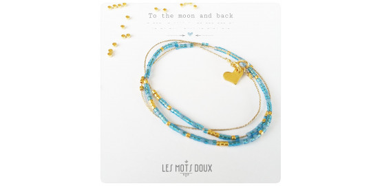 "Collier ""To the moon and back"" en morse"