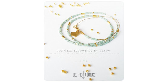 "Collier ""You will forever be my always"" en morse"