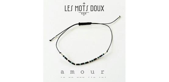 """Bracelet """"Amour"""" pour homme en morse"""