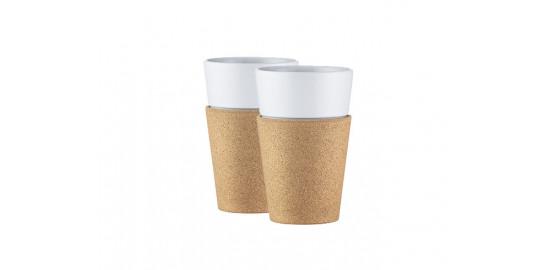 Set de 2 mugs en porcelaine Bistro 30cl