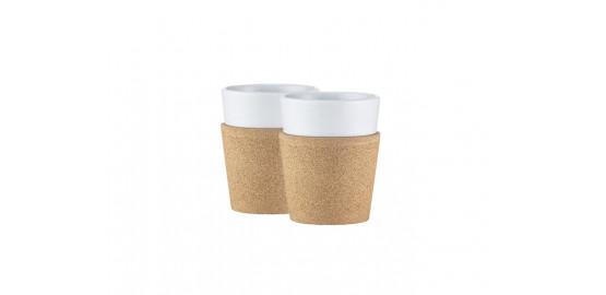 Set de 2 mugs en porcelaine Bistro 60cl