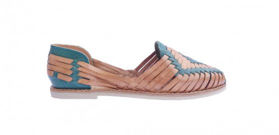 Chaussures Ventanilla Camel/ Turquoise Mapache