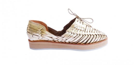 Chaussures Loreto plateforme or Mapache